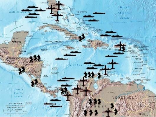 Bases yanquis en el Caribe