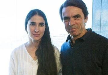 Yoani con el ex presidente español y criminal de guerra José María Aznar