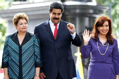 Dilma, Nicolás y Cristina