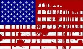 Bandera USA sangrienta