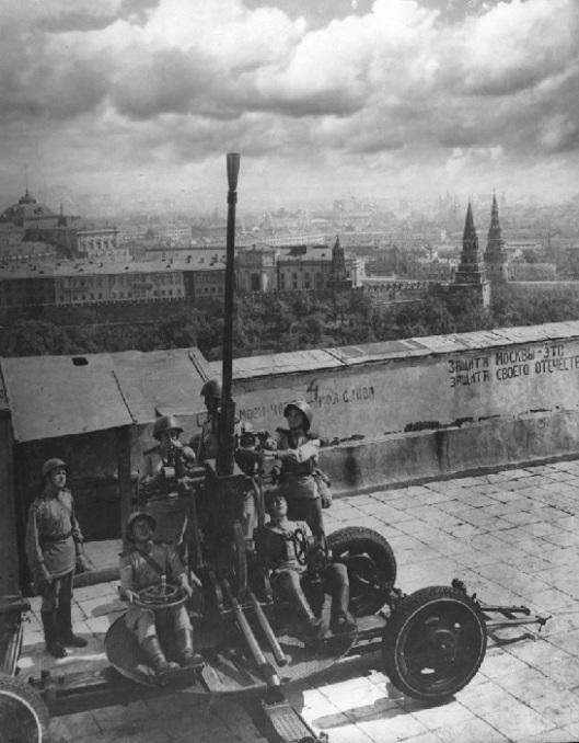 Batería antiaérea en Moscú 41