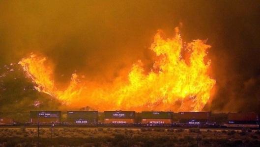 Incendio en USA